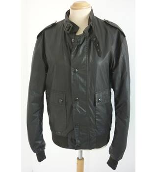 "Barbour Size: S, 36"" chest, short length Chocolate Brown Casual/Country ""Carbon Finish Flyer"" Treated Cotton Bomber Jacket"