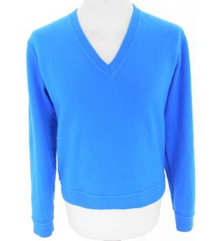 "Unbranded Chest 40"" Cobalt Blue V Neck Jumper"