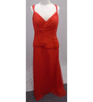 Gina Bacconi BNWT - Size 12 - Red - Long Silk Evening Dress