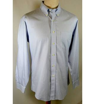 Brooks Brother - Size: 16.5 - White and blue check - Long sleeved shirt