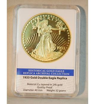 1933 Gold Eagle Replica Coin 24kt Gold Plated by American Mint