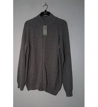 BNWT M&S - Grey Cotton Cardigan - Size: L