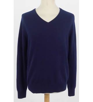 BNWT Enzo Mantovani Large Navy V Neck Jumper