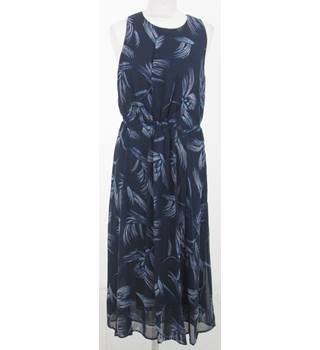 NWOT: Per Una:  Size 12: Navy blue & pink mix brush stroke dress