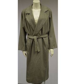 Vintage - Your Sixth Sense (C & A) - Size Large - Grey - Wool and Cashmere - Full Length - Duster Coat