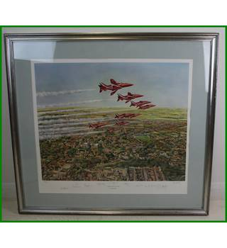 Red Arrows over Lincoln - Roy Collet - signed, limited edition