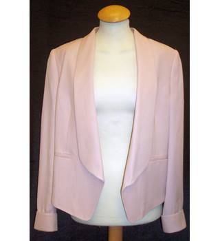 BNWT Whistles Size 12 Antique rose pink edge to edge cropped Tuxedo Jacket with cuff detail