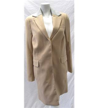 BNWT - Asos - Size 6 - Beige/Brown with grey collar overcoat