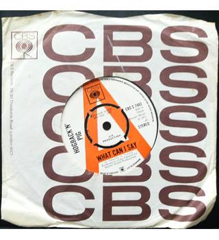 What Can I Say - Hogback'n Pig - CBS S 7482 (Promo Copy)