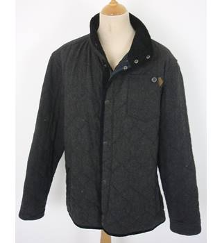 "Next Size: XXL, 50"" chest, regular length Grey Country/Outdoor Wool & Polyester Mix Coat"