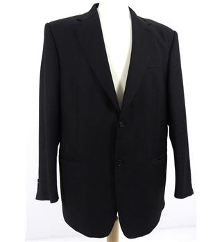 Gianfranco Ferre Size L Black Micro Dot Suit Jacket