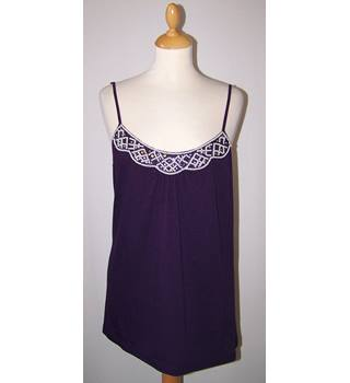 BNWT Monsoon - Size: 14 - Purple with White Beaded Detail Top