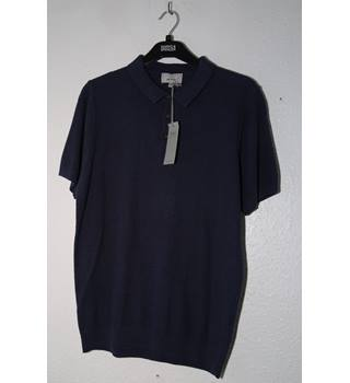 BNWT M&S Mens Polo Top M&S Marks & Spencer - Size: L - Blue - Polo shirt