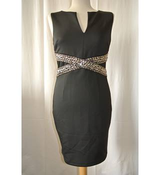 BNWT TFUC, London - Size: M -Black with Metallics - Knee length dress