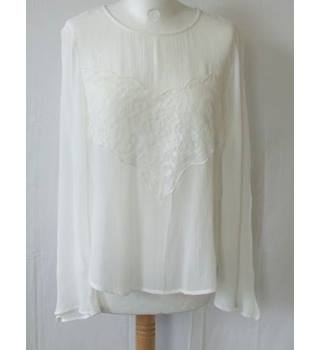NWOT M&S Collection size 10 Ivory Long Sleeve Top