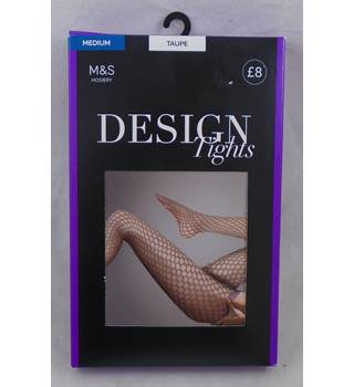 BNWOT M&S taupe fishnet tights Size M