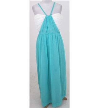 Vintage John Charles Size:16 turquoise & white evening dress
