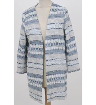 H&M - size: XS, blue and cream striped casual jacket
