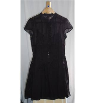 Laura Ashley Size 14 Black Dress