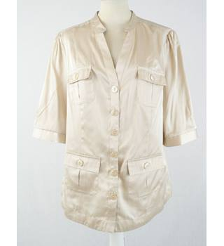 BNWT Per Una - Size: 16 - Gold - Short Sleeved Shirt