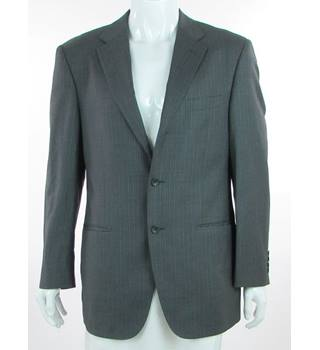 "M&S Marks & Spencer - Size: 40"" - Grey Pinstripe - Pure New Wool Single Breasted Suit Jacket"