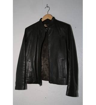 Ladies Spanish Leather Jacket Tintoretto Size 12