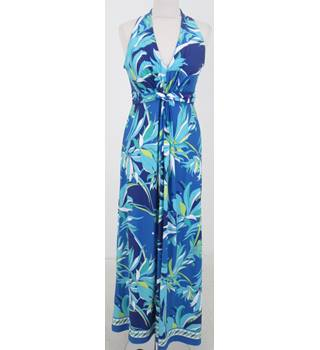 Wallis - Size: 12 - Blue tropical print maxi-dress