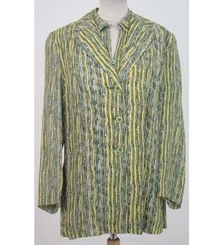 Betty Barclay Size:12 yellow & green silk top & jacket