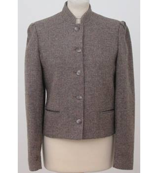 Nell Flowers - Size: 8 - Brown tweed style Blazer