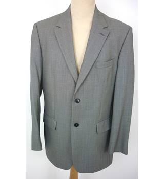 "Austin Reed  Size: L, 42"" chest, tailored fit Grey Dot Pattern Smart/Stylish Wool Single Breasted Jacket"