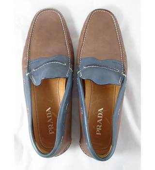 Prada - Brown - Loafers Size 11- Mens