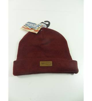 M&S Marks & Spencer Kids Size 6-10 Years Maroon Beanie Hat