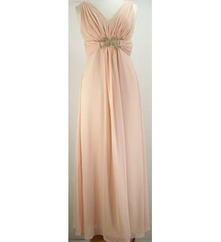 BNWT Designers at Debenhams (Jenny Packham) - Size: 12 - Pink with Beading Detail Full length Dress
