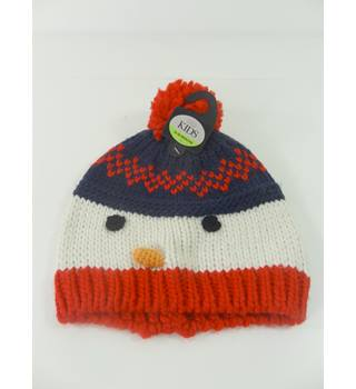 M&S Marks & Spencer Kids Size 3 - 6 Years Snowman Hat