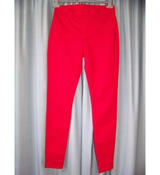 "Denim for BHS - Size: 28"" - Red - High rise jeggings - Size 10"