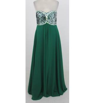 BNWT Prom Frocks - Size: 10 - Green sequinned prom dress