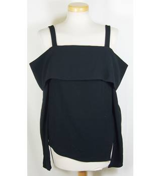 Tibi size 4 (UK size 8/10) black crepe top