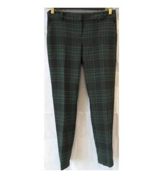 Next  Size 8  Green and Black Chequered Trousers