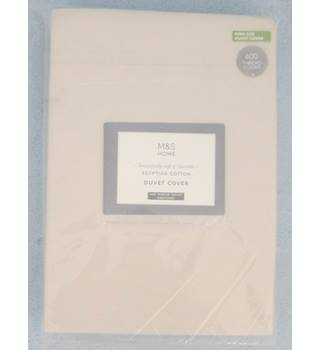 M&S Home King Size Champagne Egyptian Cotton Duvet Cover
