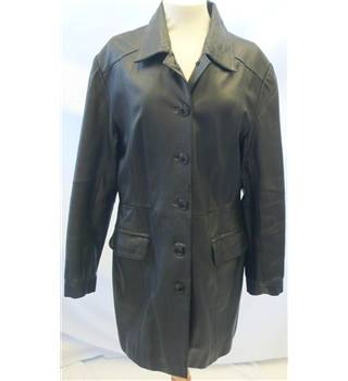 Hudson Leather Company - Size: 16 - Black Leather Coat