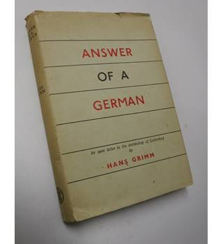 Answer Of A German