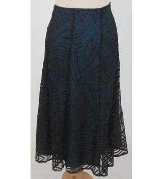 Coast - Size: 12 - Turquoise Blue Skirt with Black Net