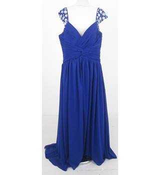 E-Dress - Size: 10 - Blue Evening Dress