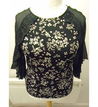 M&S - Size: 10 -New  Black  Blouse (L5)