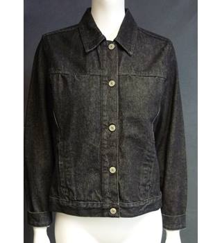 Racing Green - Black Denim Jacket Size 8