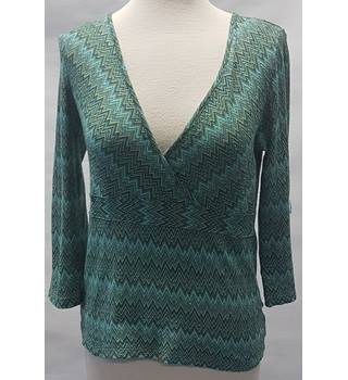 Next size 12 green long sleeved shirt
