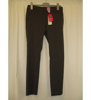 BNWT M & S School Size 14 - 15 Years  Grey stretch School Trousers with zip pockets