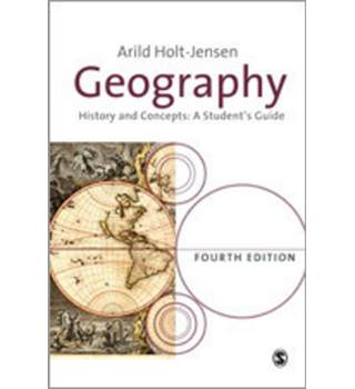 Geography   History and Concepts: A Student's Guide