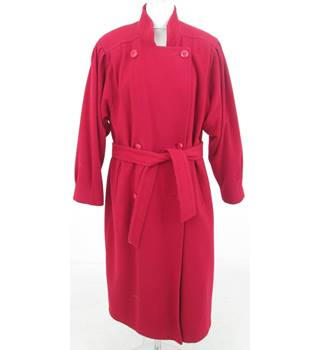 St Michael - Size: 12 - Red oversized Overcoat