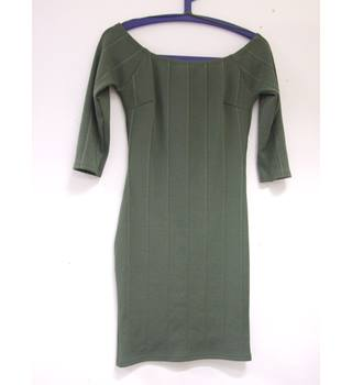 Miss Selfridge Petite bodycon dress - Size: 12 - Green